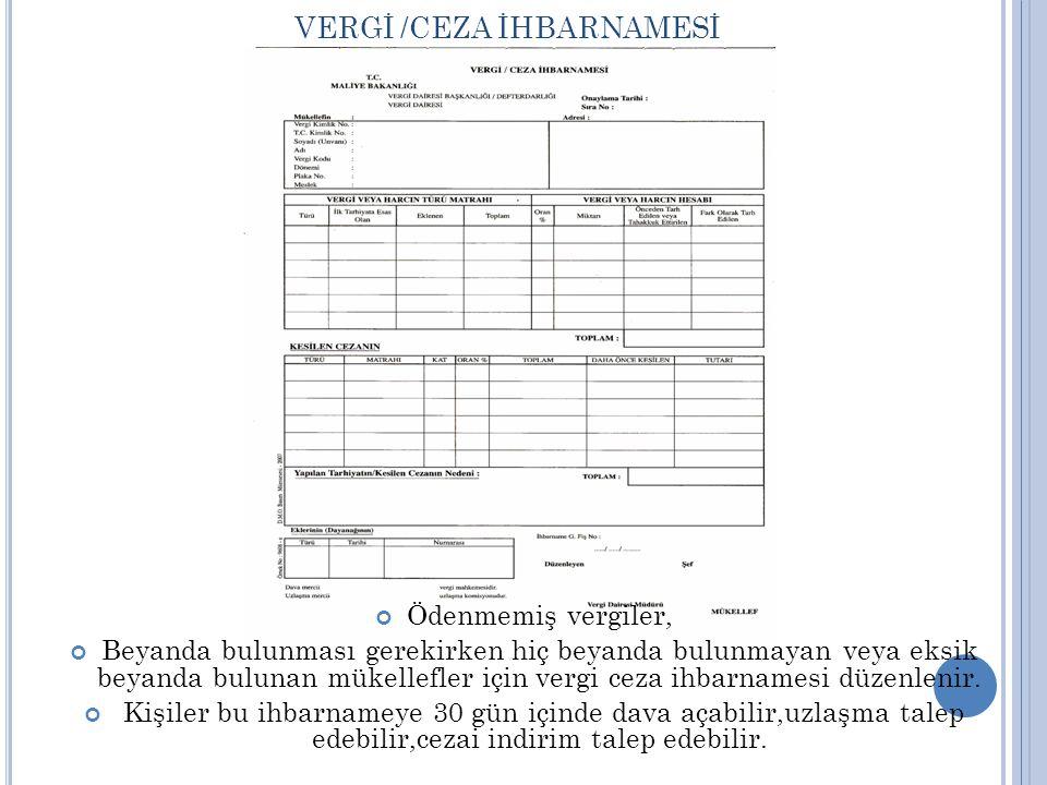 VERGİ /CEZA İHBARNAMESİ