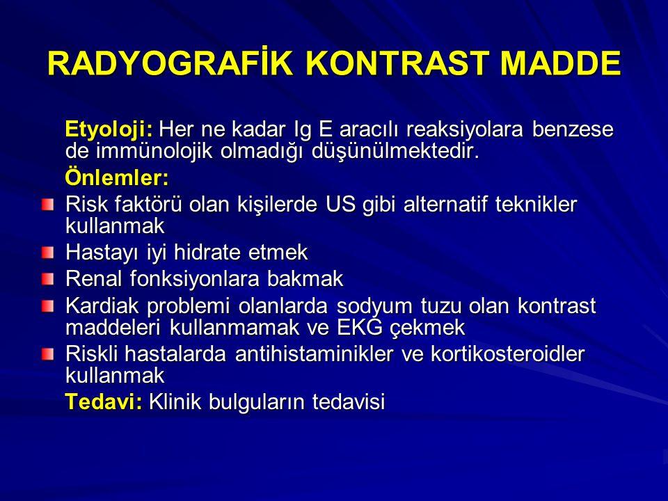 RADYOGRAFİK KONTRAST MADDE