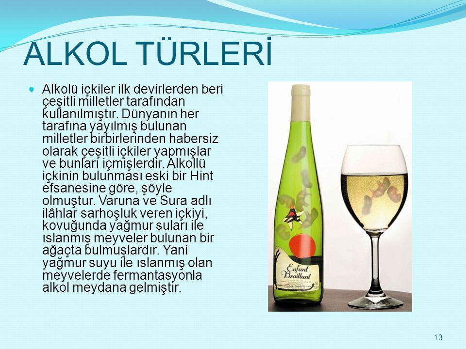 ALKOL TÜRLERİ