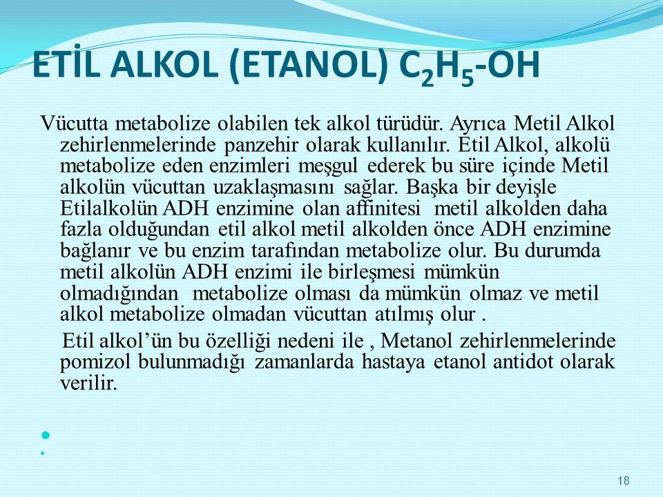 ETİL ALKOL (ETANOL) C2H5-OH