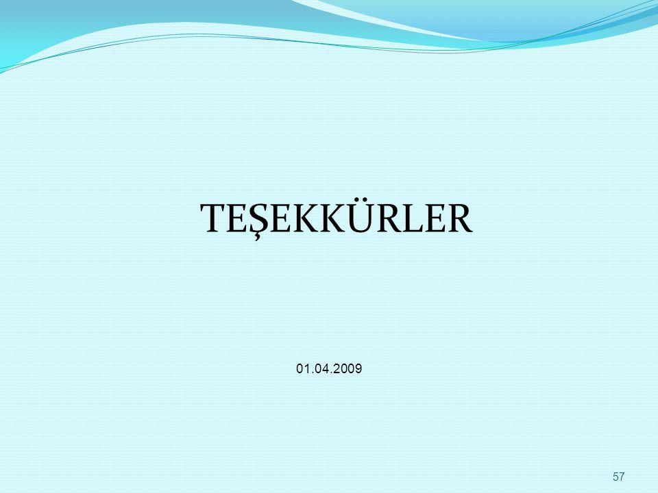 TEŞEKKÜRLER 01.04.2009