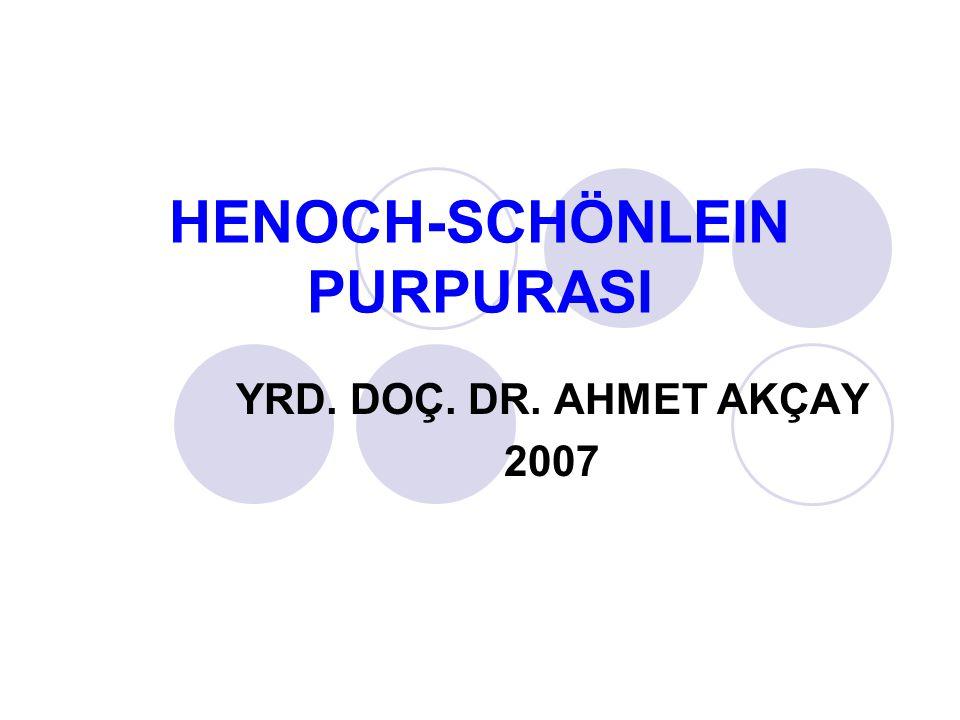 HENOCH-SCHÖNLEIN PURPURASI