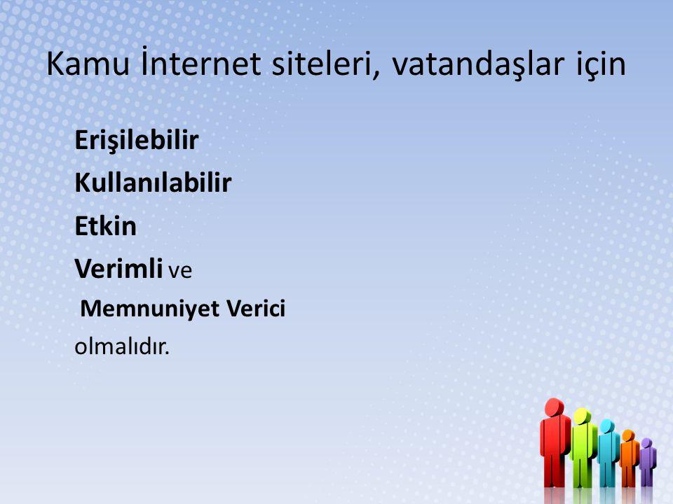 Kamu İnternet siteleri, vatandaşlar için
