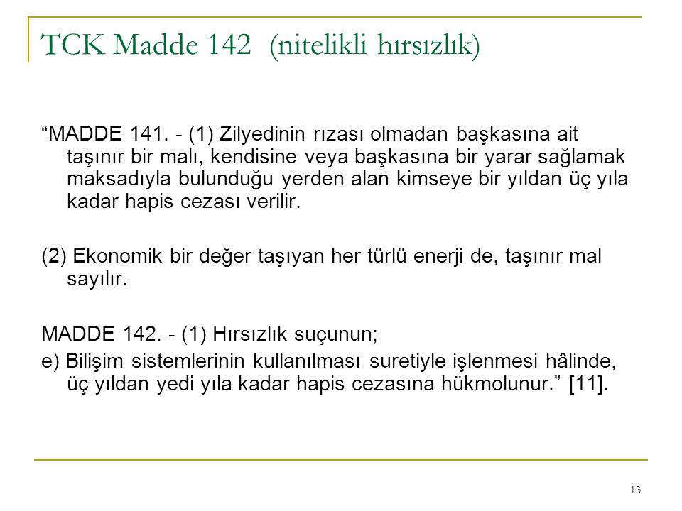 TCK Madde 142 (nitelikli hırsızlık)