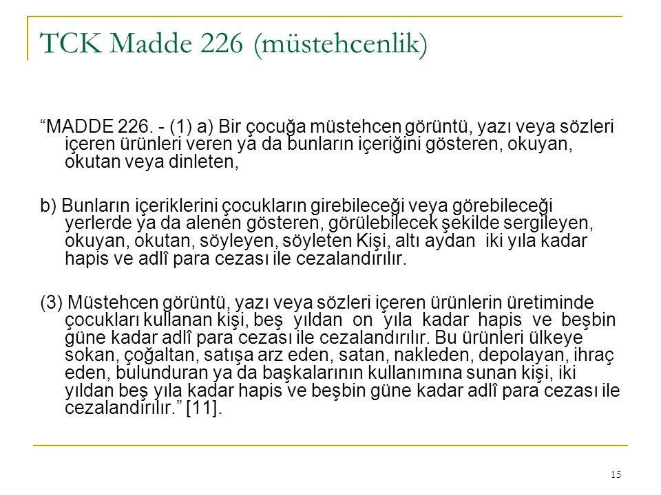TCK Madde 226 (müstehcenlik)