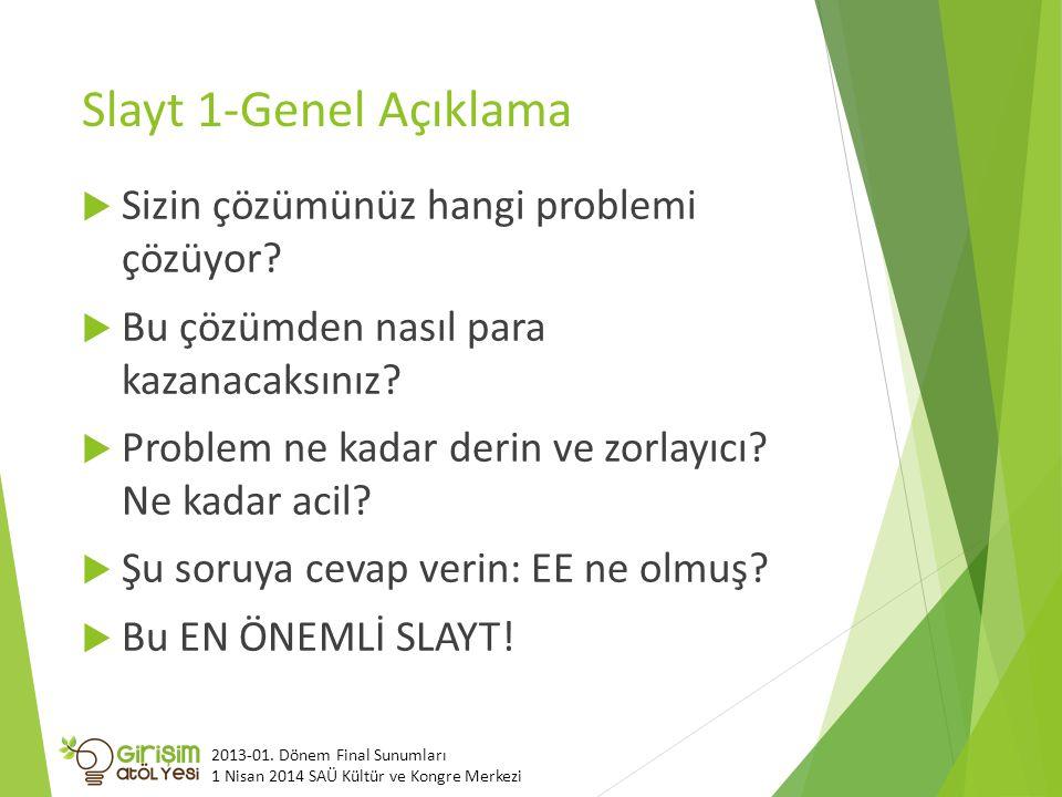 Slayt 1-Genel Açıklama Sizin çözümünüz hangi problemi çözüyor