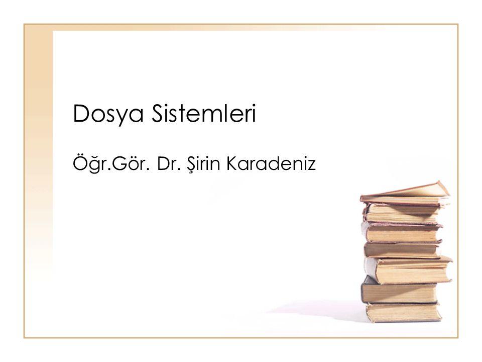 Öğr.Gör. Dr. Şirin Karadeniz