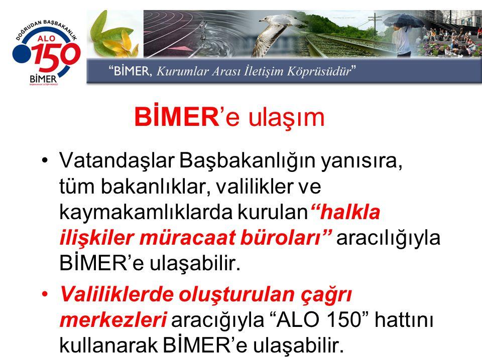 BİMER'e ulaşım