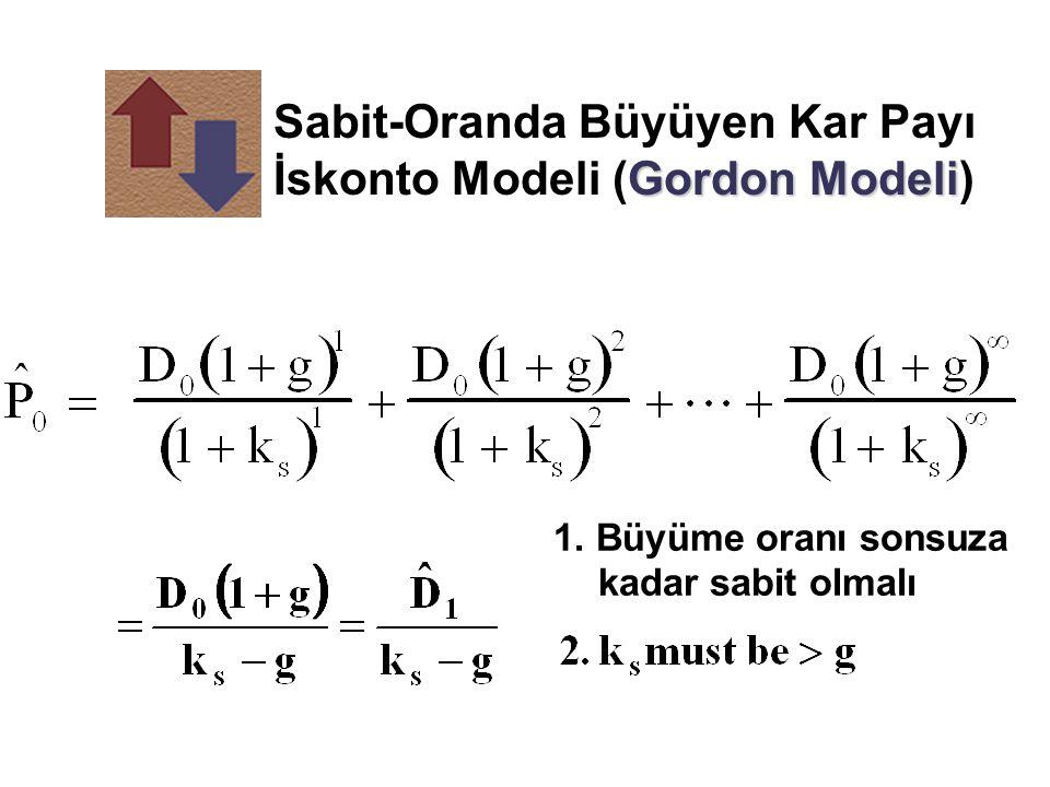 Sabit-Oranda Büyüyen Kar Payı İskonto Modeli (Gordon Modeli)
