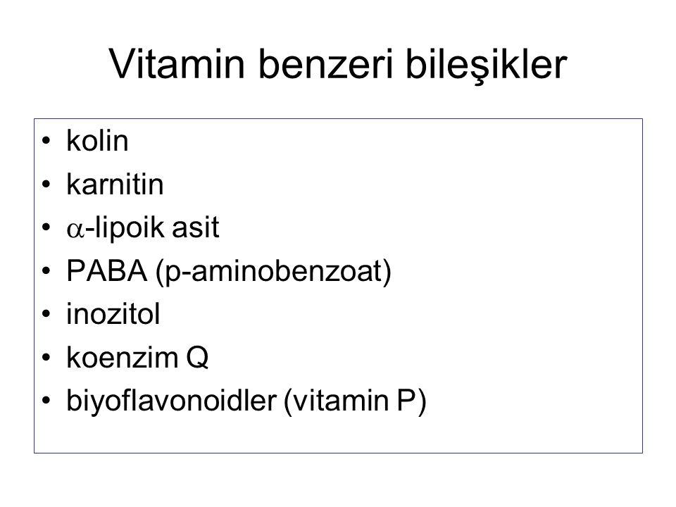Vitamin benzeri bileşikler