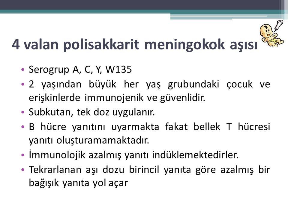 4 valan polisakkarit meningokok aşısı