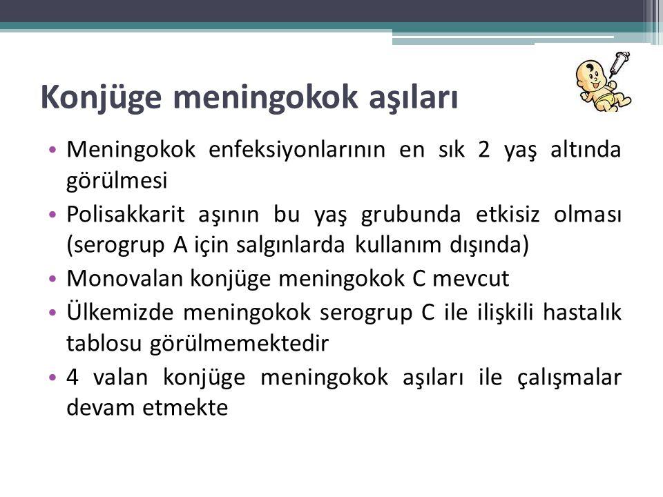 Konjüge meningokok aşıları