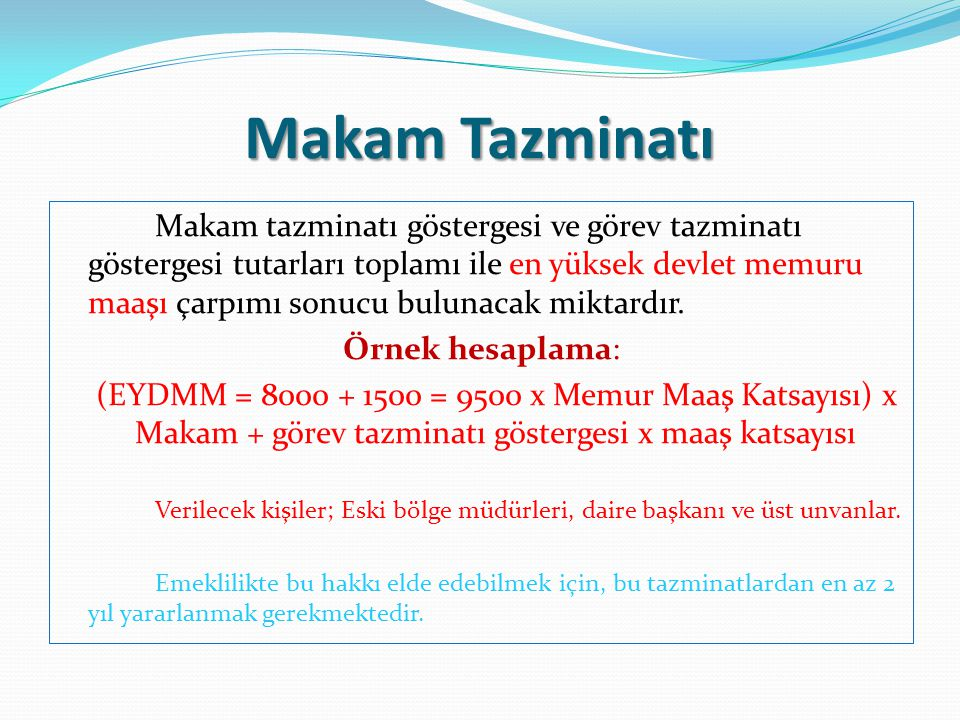 Makam Tazminatı
