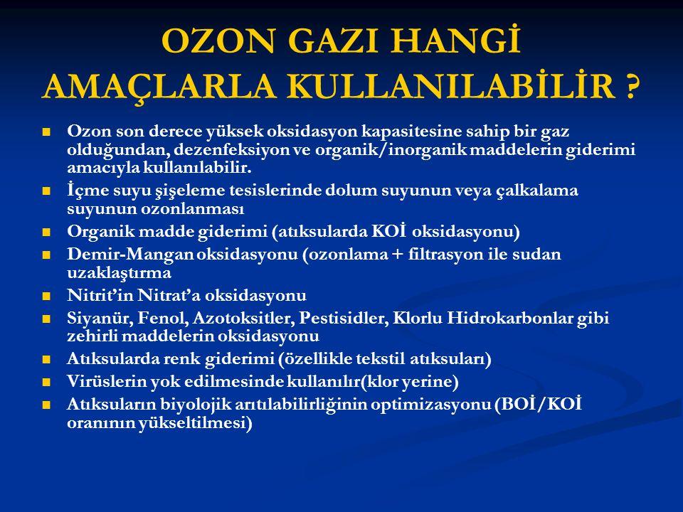 OZON GAZI HANGİ AMAÇLARLA KULLANILABİLİR