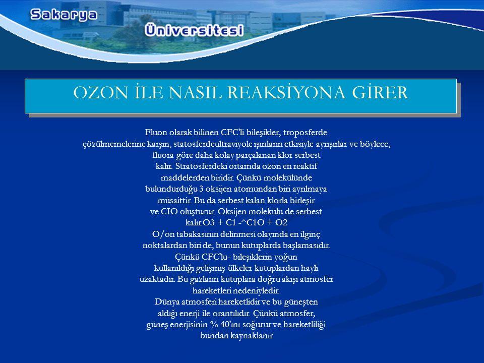OZON İLE NASIL REAKSİYONA GİRER