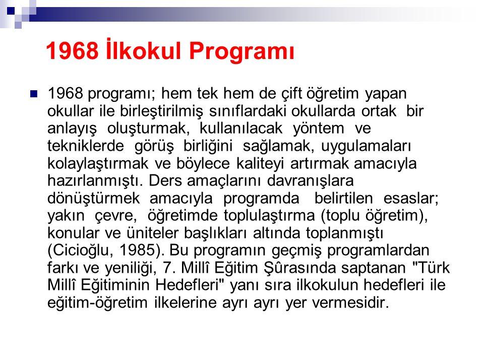 1968 İlkokul Programı
