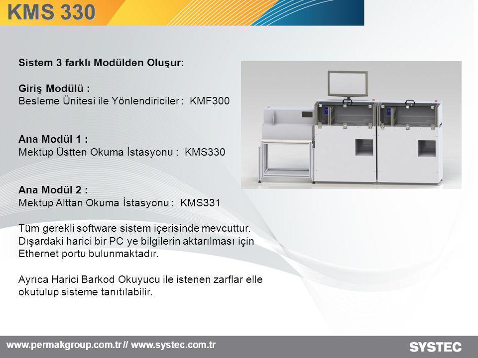 KMS 330 Sistem 3 farklı Modülden Oluşur: