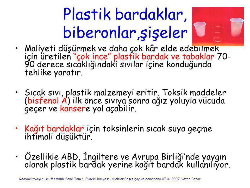 Plastik bardaklar, biberonlar,şişeler