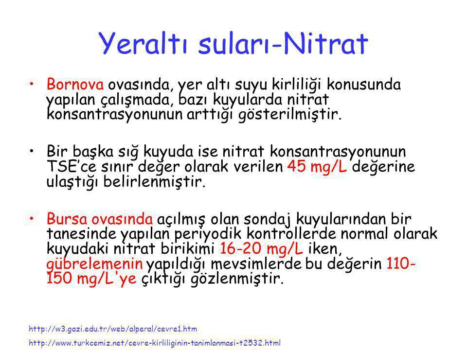 Yeraltı suları-Nitrat