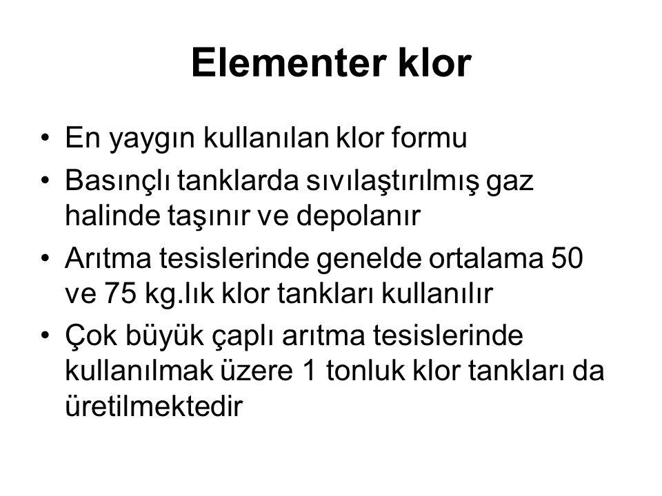 Elementer klor En yaygın kullanılan klor formu
