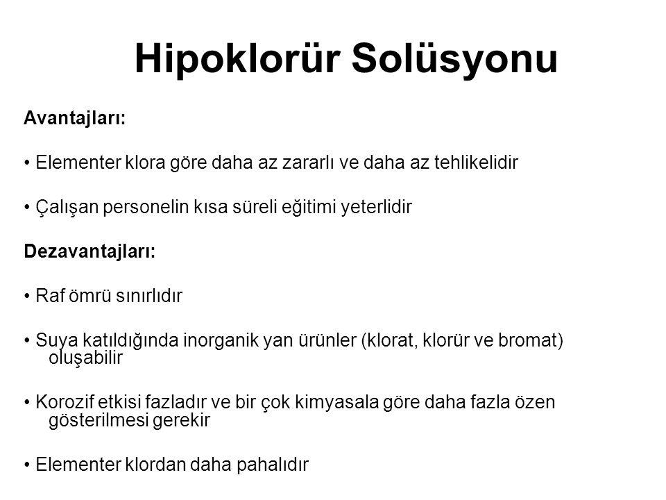 Hipoklorür Solüsyonu Avantajları: