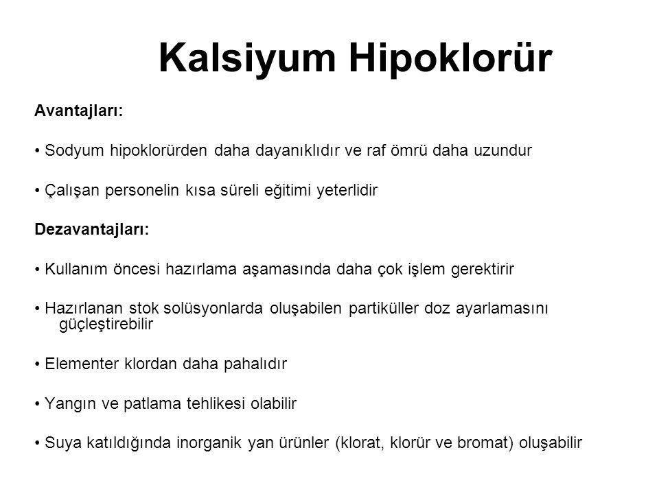 Kalsiyum Hipoklorür Avantajları: