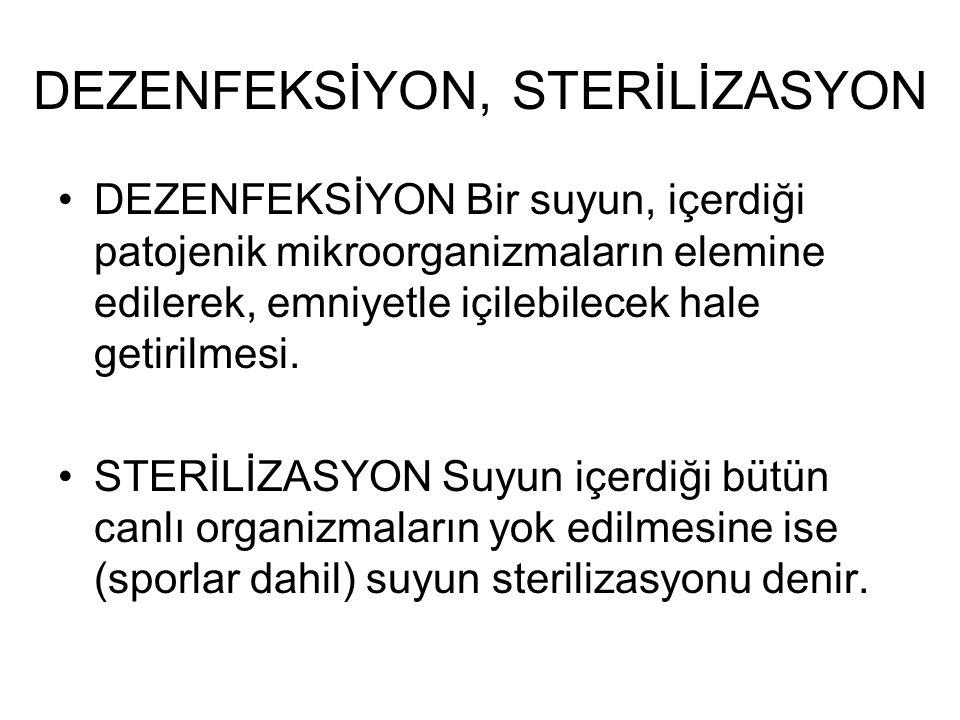 DEZENFEKSİYON, STERİLİZASYON