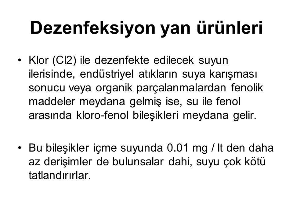 Dezenfeksiyon yan ürünleri
