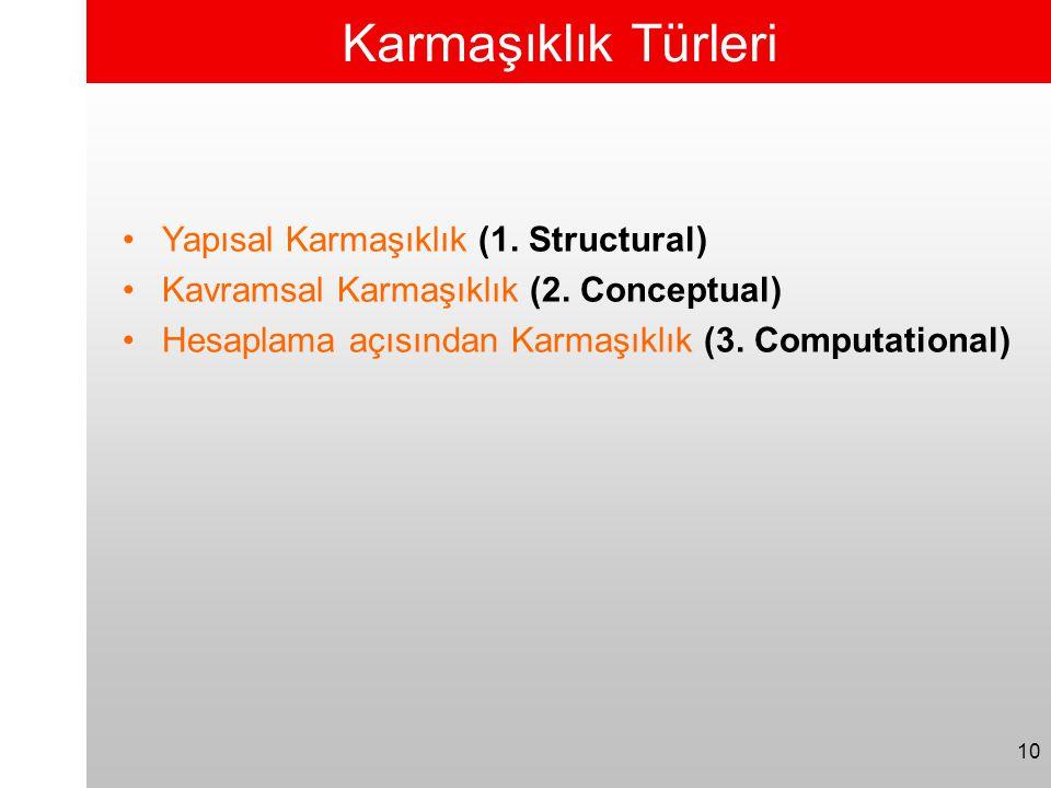 Karmaşıklık Türleri Yapısal Karmaşıklık (1. Structural)