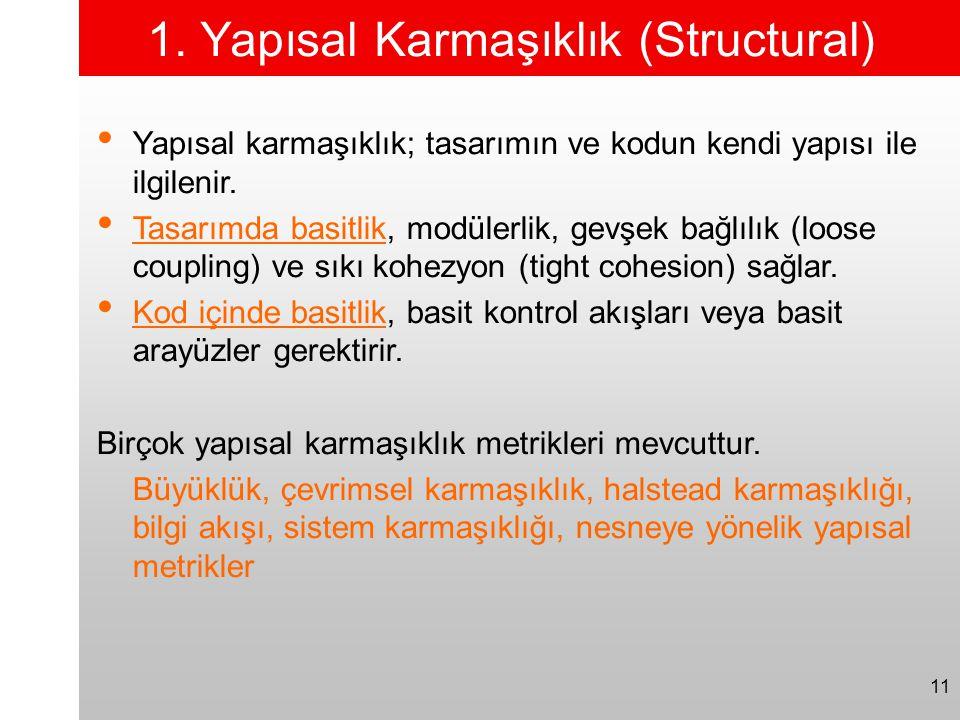 1. Yapısal Karmaşıklık (Structural)