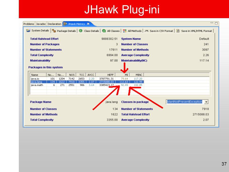 JHawk Plug-ini 37