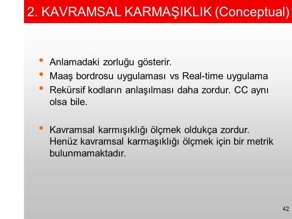 2. KAVRAMSAL KARMAŞIKLIK (Conceptual)