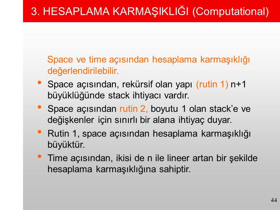 3. HESAPLAMA KARMAŞIKLIĞI (Computational)