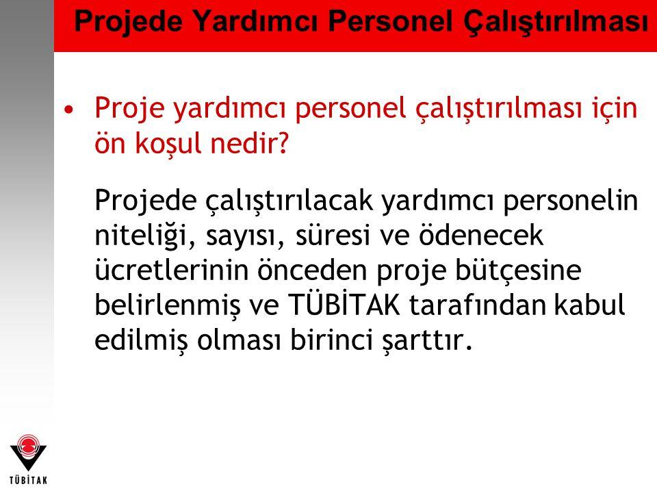 Projede Yardımcı Personel Çalıştırılması