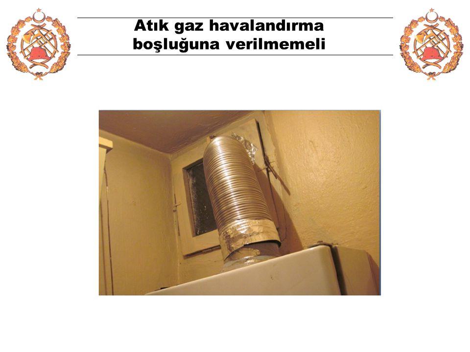 Atık gaz havalandırma boşluğuna verilmemeli