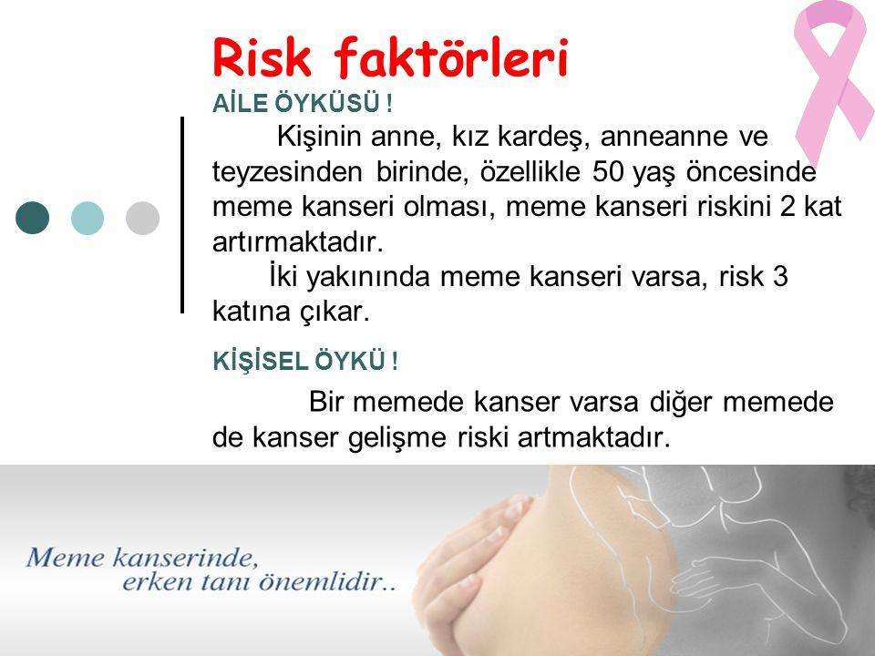 Risk faktörleri AİLE ÖYKÜSÜ