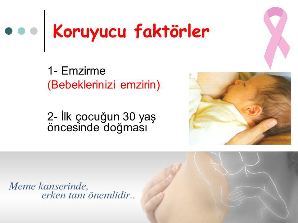 Koruyucu faktörler 1- Emzirme (Bebeklerinizi emzirin)
