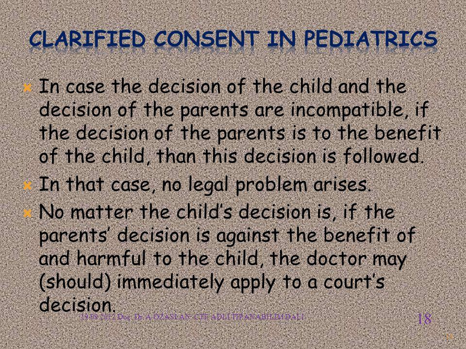 Clarified consent in pediatrics