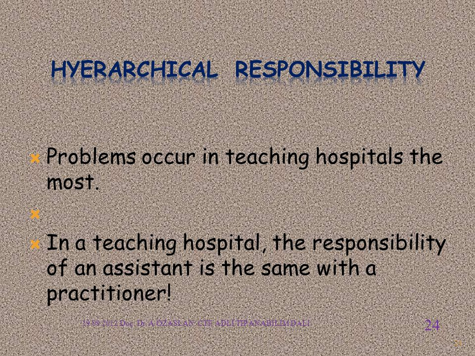 Hyerarchical responsIBILITY