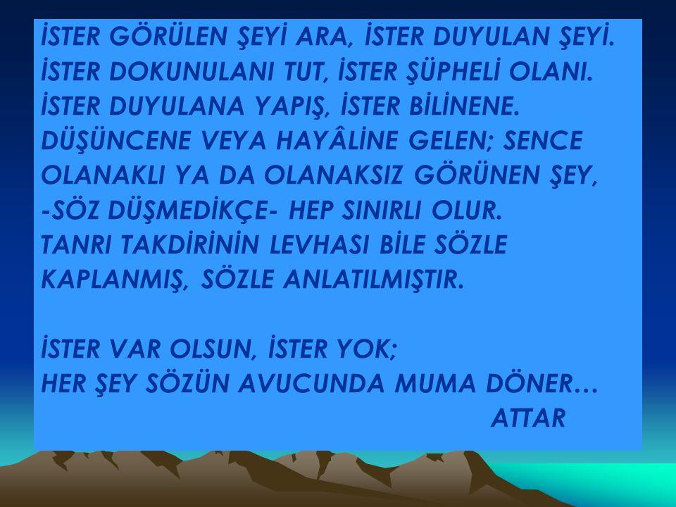 İSTER GÖRÜLEN ŞEYİ ARA, İSTER DUYULAN ŞEYİ.