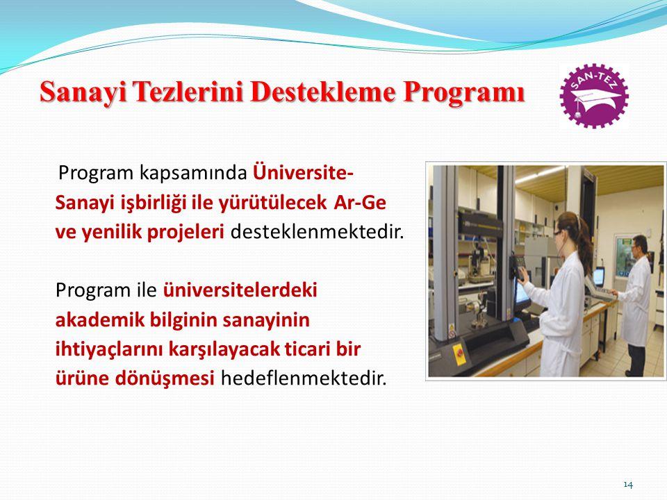 Sanayi Tezlerini Destekleme Programı