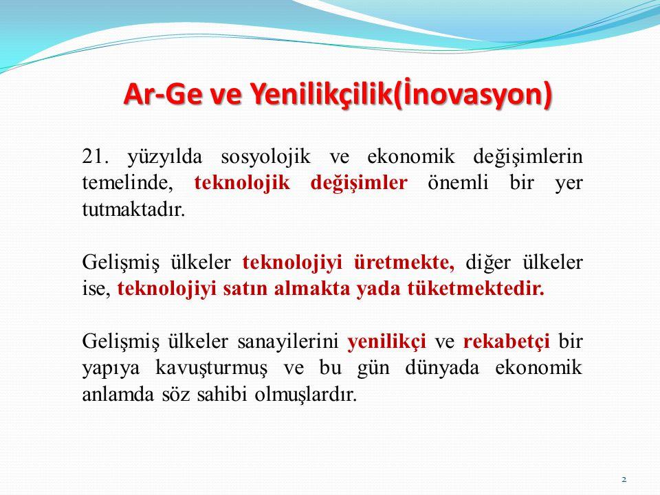 Ar-Ge ve Yenilikçilik(İnovasyon)