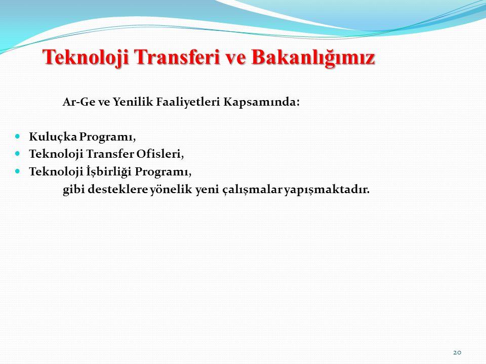 Teknoloji Transferi ve Bakanlığımız