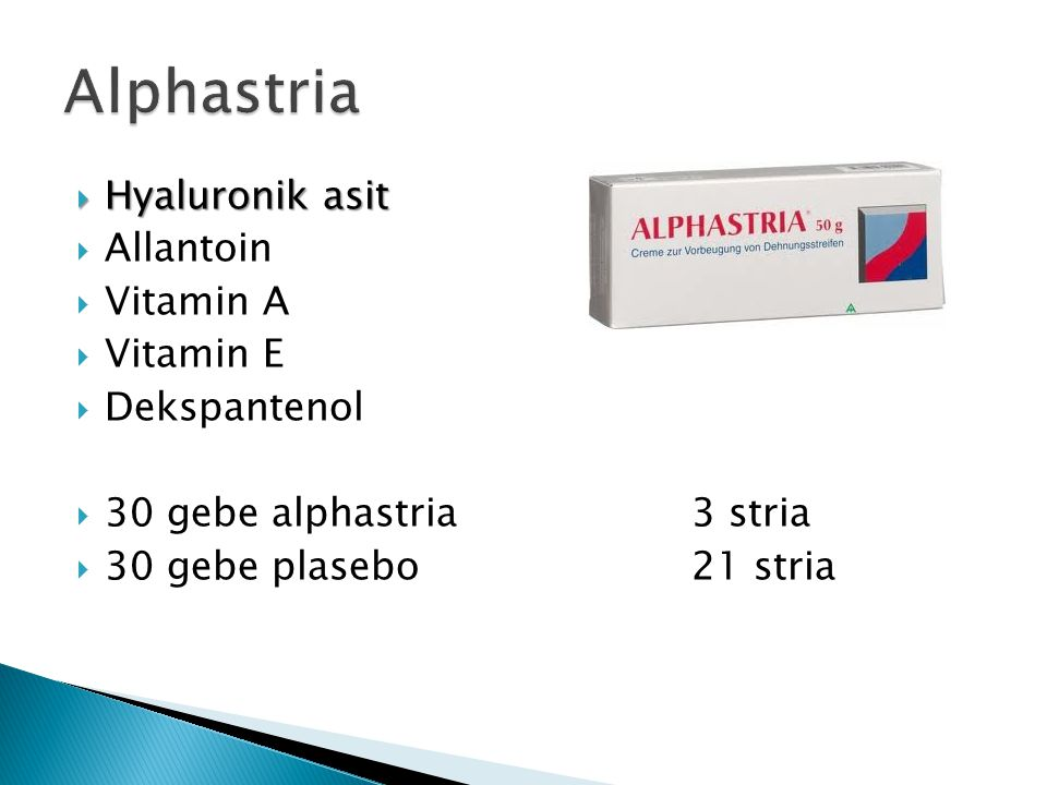 Alphastria Hyaluronik asit Allantoin Vitamin A Vitamin E Dekspantenol