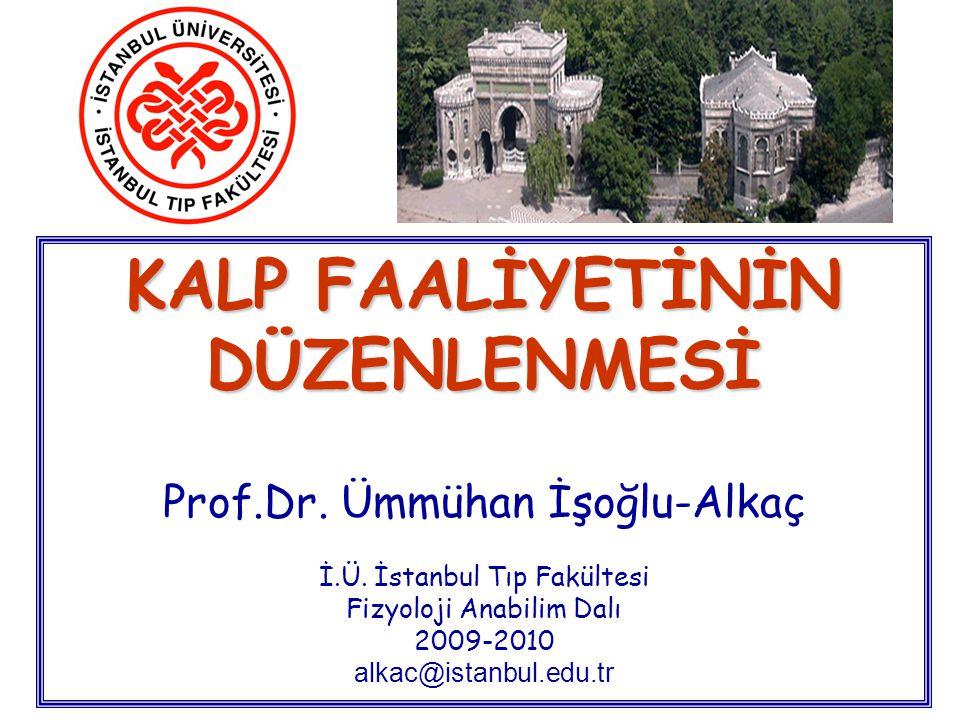 KALP FAALİYETİNİN DÜZENLENMESİ Prof. Dr. Ümmühan İşoğlu-Alkaç İ. Ü