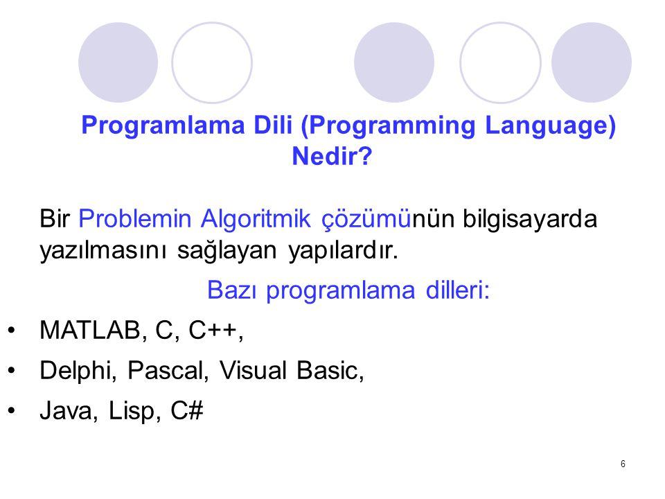 Programlama Dili (Programming Language) Nedir