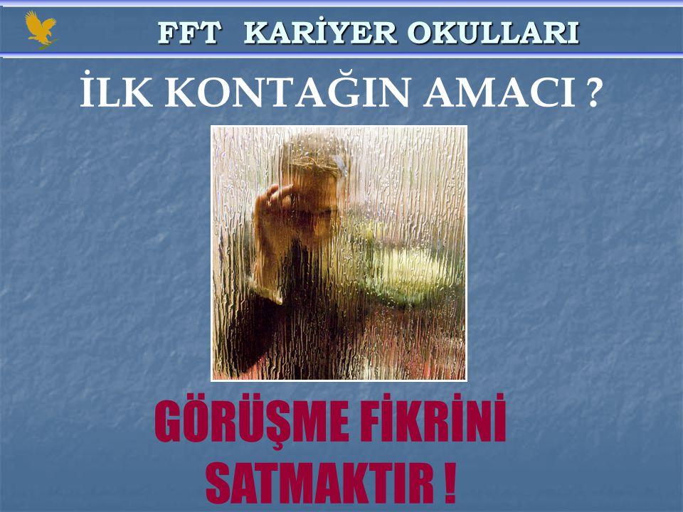 GÖRÜŞME FİKRİNİ SATMAKTIR !