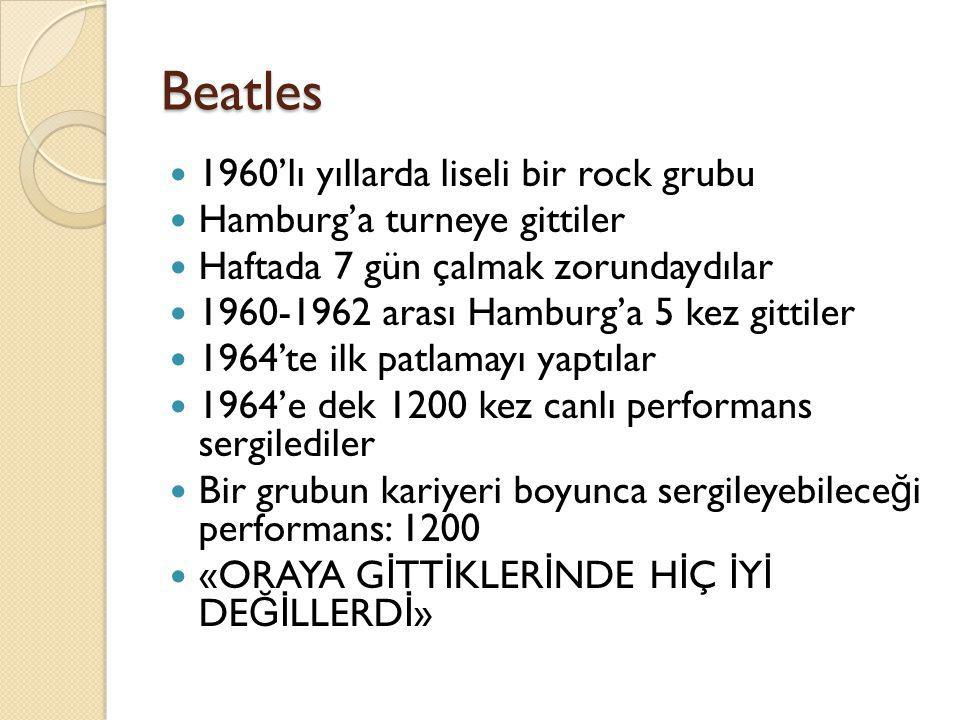 Beatles 1960'lı yıllarda liseli bir rock grubu