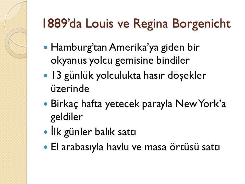 1889'da Louis ve Regina Borgenicht