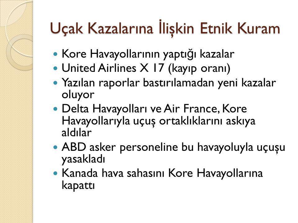 Uçak Kazalarına İlişkin Etnik Kuram